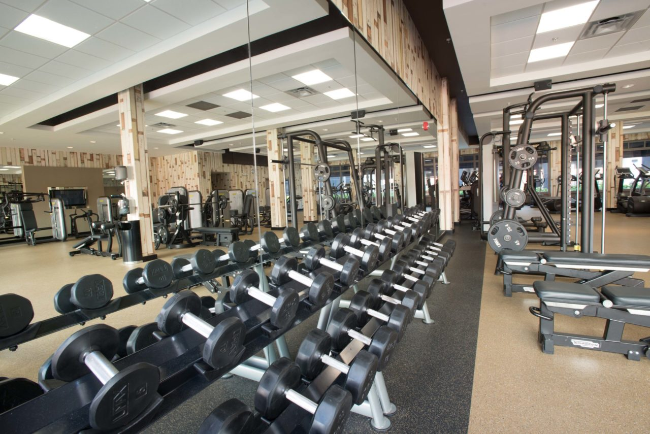 3,000 sq. ft. state of the art fitness center by Technogym