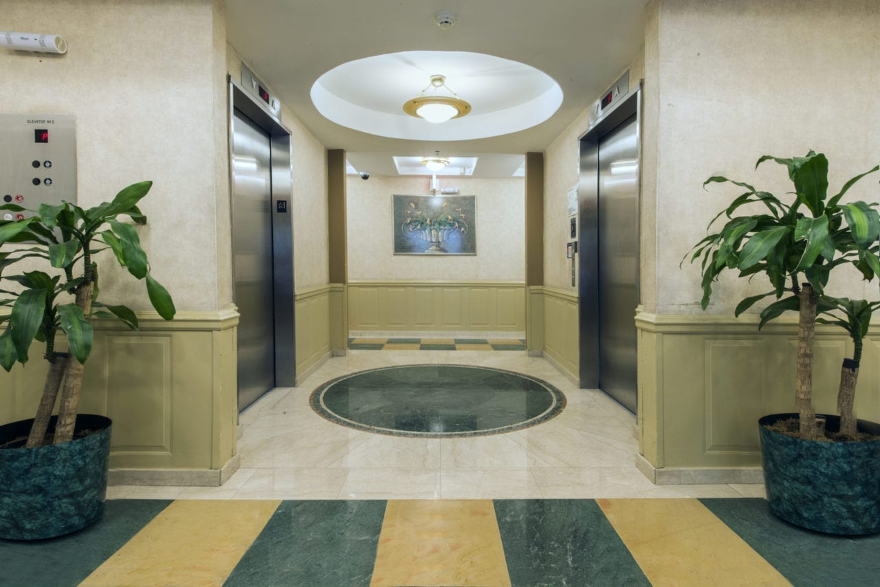 Marble Lobby with Attendant